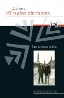 Couverture Cahiers d'Études africaines, 2017, numéro 226