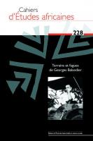 Couverture Cahiers d'Études africaines, 2017, numéro228