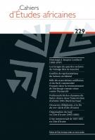 Couverture Cahiers d'Études africaines, 2018, numéro 229