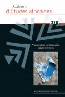 Couverture Cahiers d'Études africaines, 2018, numéro 230