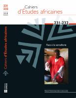 Couverture Cahiers d'Études africaines, 2018, numéro 231-232