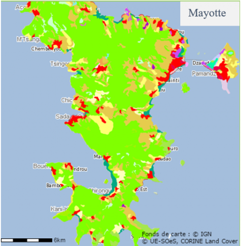 Figure 6. Carte de l'occupation des sols à Mayotte