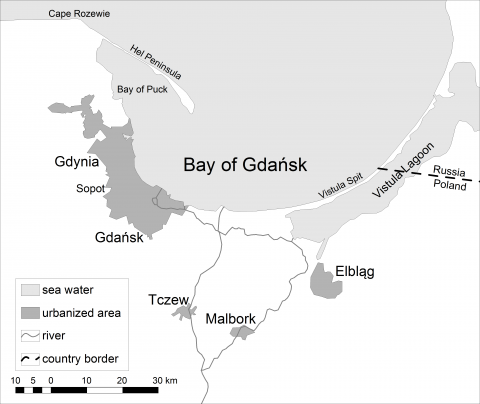 Figure 1. Bay of Gdańsk