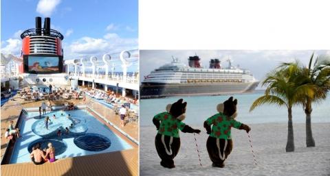 Fotografias 2a e 2b. Walt Disney entra no mundo com a Disney Cruise Line