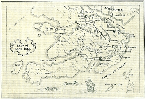 Map used by Ian Fraser in his Journeyings in the Isle of Aros, A. D. 1759.