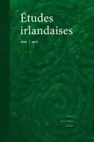 Couverture Études irlandaises