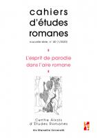 Couverture du n° 40 des cahiers d'etudes romanes