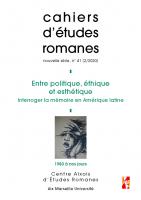 Couverture du n° 41 des cahiers d'etudes romanes