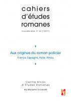Couverture du n° 34 des cahiers d'études romanes