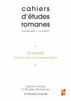 Couverture du n° 35 des cahiers d'études romanes