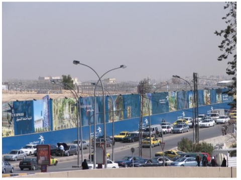 Figure 1. A stretch of billboards around the Abdali site during its early stages of construction some 4 years ago.