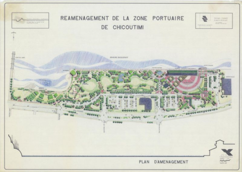 Fig. 3 – Plan concept du réaménagement de la zone portuaire