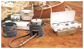 Figure 2. Biogas usage equipment.