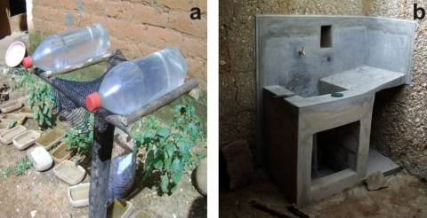 Figure 2: Solar disinfection and study kitchen sinks.