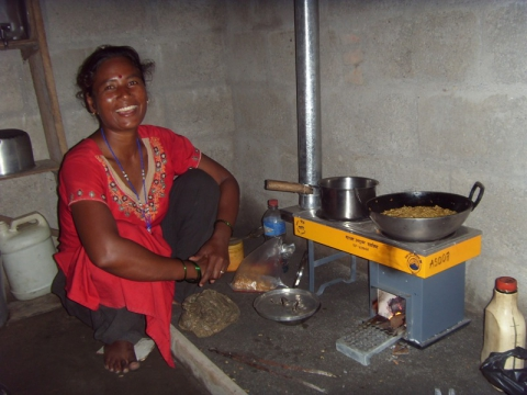 Figure 2. Improved double pot stove in Nepal with 50% fuel consumption and no harmful emissions