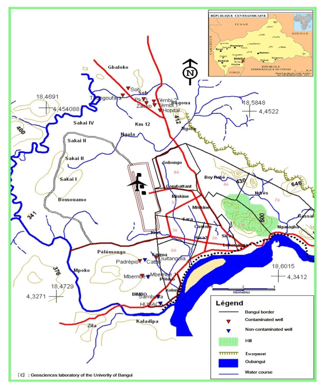 Sanitary mapping of well waters in the commune of Bimbo in the