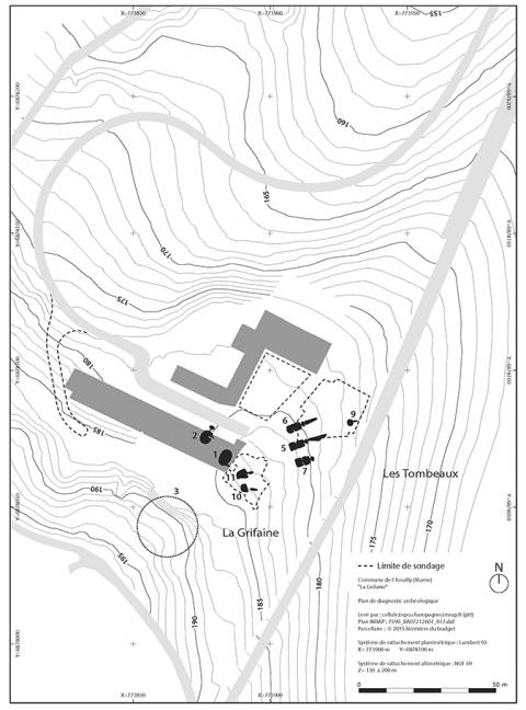 Plan General Du Site Sur Fond Topographique Il Existe Au Moins