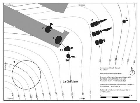 Fig 4 Plan De La Ncropole Sur Le Model Terrain Nolithique Restitu