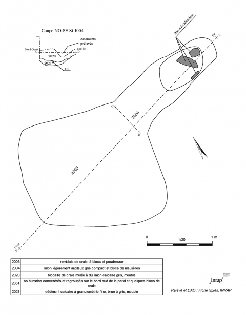 Plan Et Coupe De Lhypogee 9