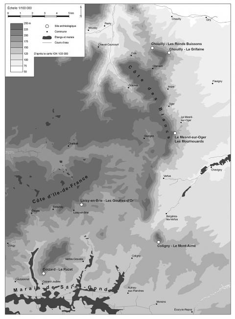 Carte De Localisation Des Sites Etudies Et Mentionnes