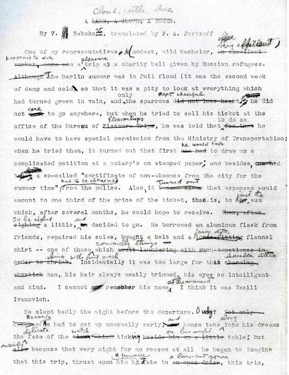 Traduction Et Reecriture Chez Vladimir Nabokov Genese D Une œuvre