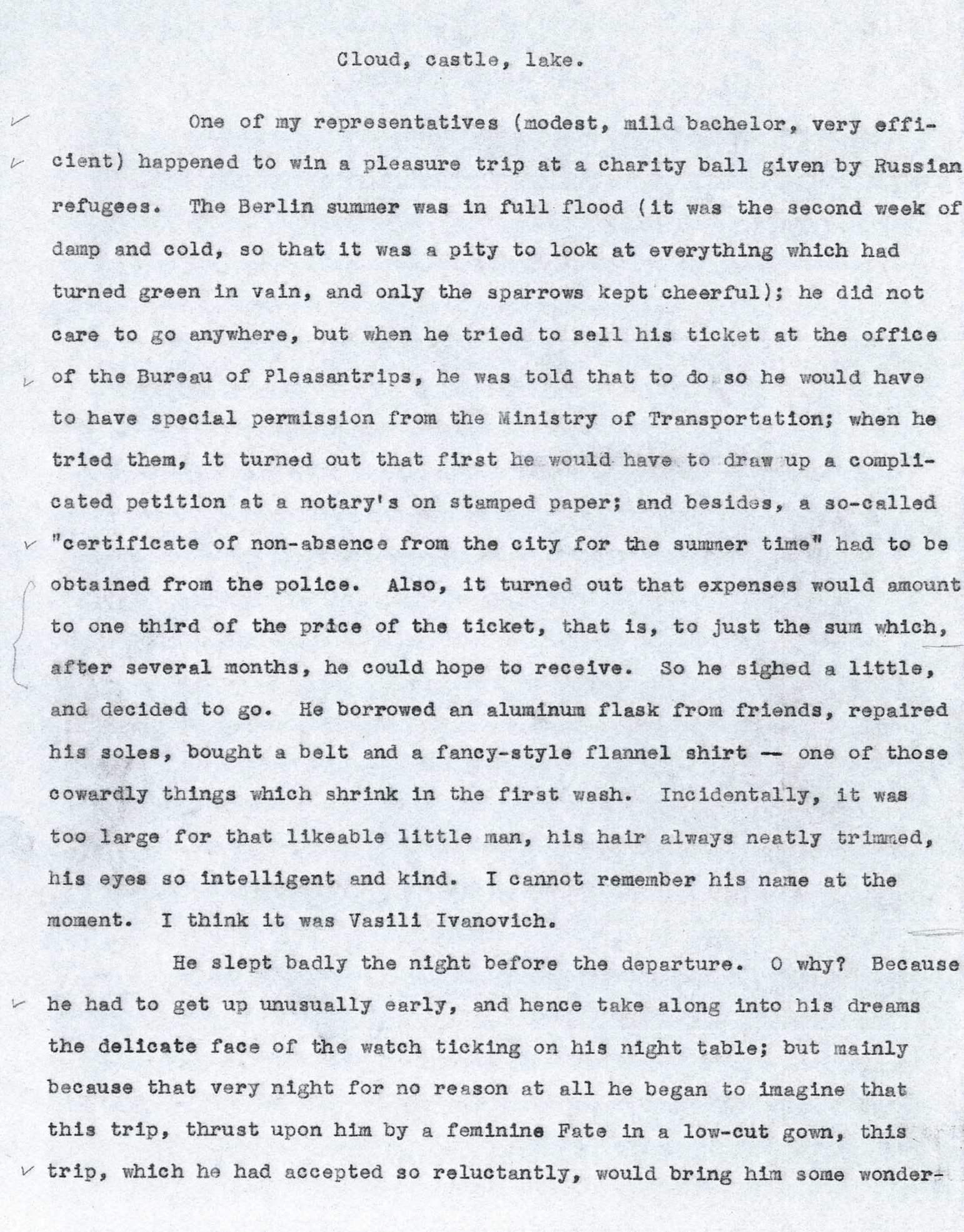 Vladimir nabokov essays