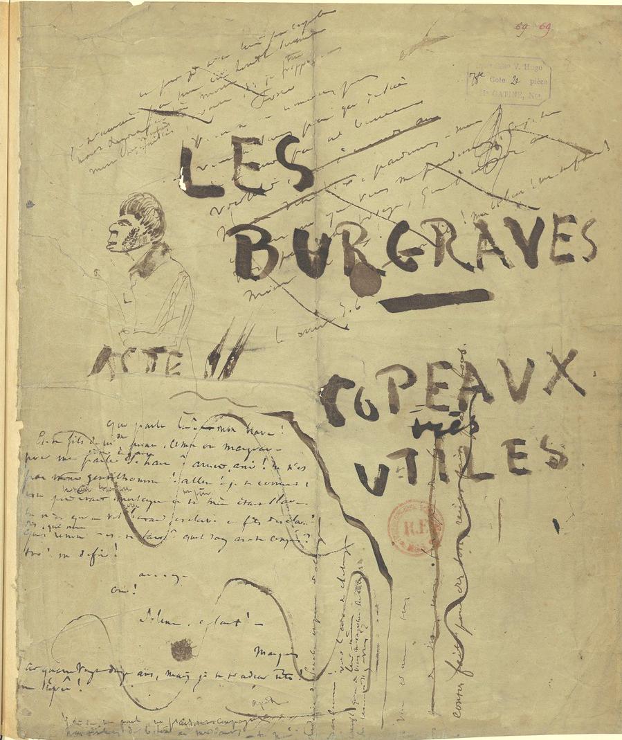 Blanc Souvenirs de France Buste de Victor Hugo 12,5 cm