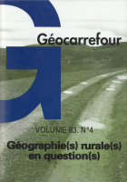 Couverture du no Géographie(s) rurale(s) en question(s)