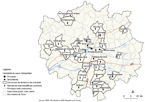 Carte 1 De Situation Des Communes Residence Et Repartition Spatiale Enquetes