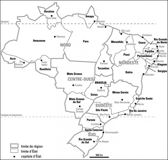 Carte Administrative Bresil.Pour Mieux Comprendre Le Bresil