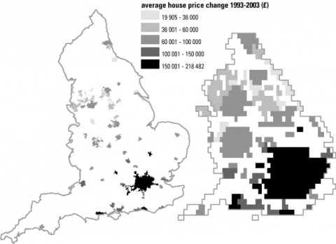 Figure 3: Change in average housing price in 1993-2003