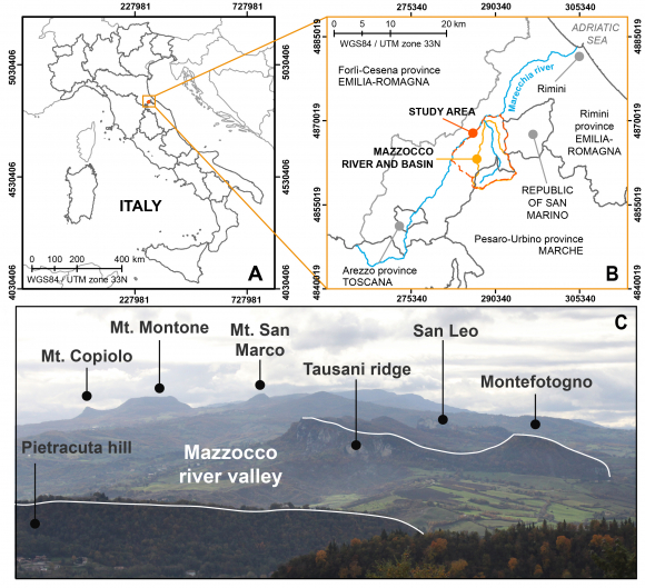 Geomorphological Mapping As A Tool For Geoheritage Inventory And Geotourism Promotion A Case Study From The Middle Valley Of The Marecchia River Northern Italy