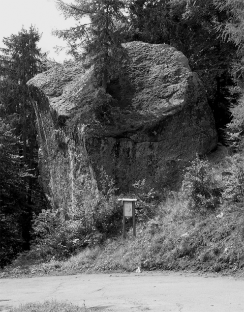 Photo 1 – Erratic boulder (Ravoire, Mont-Blanc Massif, Switzerland).