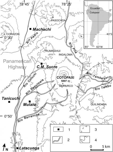 The 1877 lahar deposits on the eastern flank of cotopaxi volcano 1 cotopaxis drainage systems topographic map of cotopaxi and surroundings the ccuart Gallery