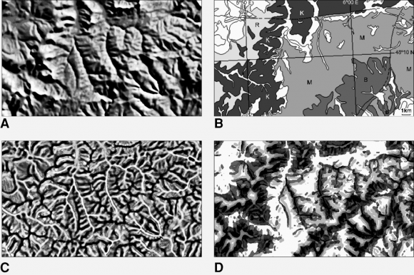 Measurement of DEM roughness using the local fractal dimension