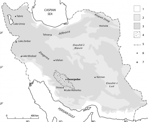 Fig. 1 – General map of Iran. Fig. 1 – Carte générale de l'Iran.