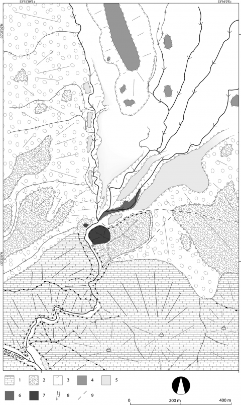 Fig. 3 – Geomorphological map of the Sad-i Didegan zone and its main units. Fig. 3 – Carte des unités géomorphologiques de la zone de Sad-i Didegan.