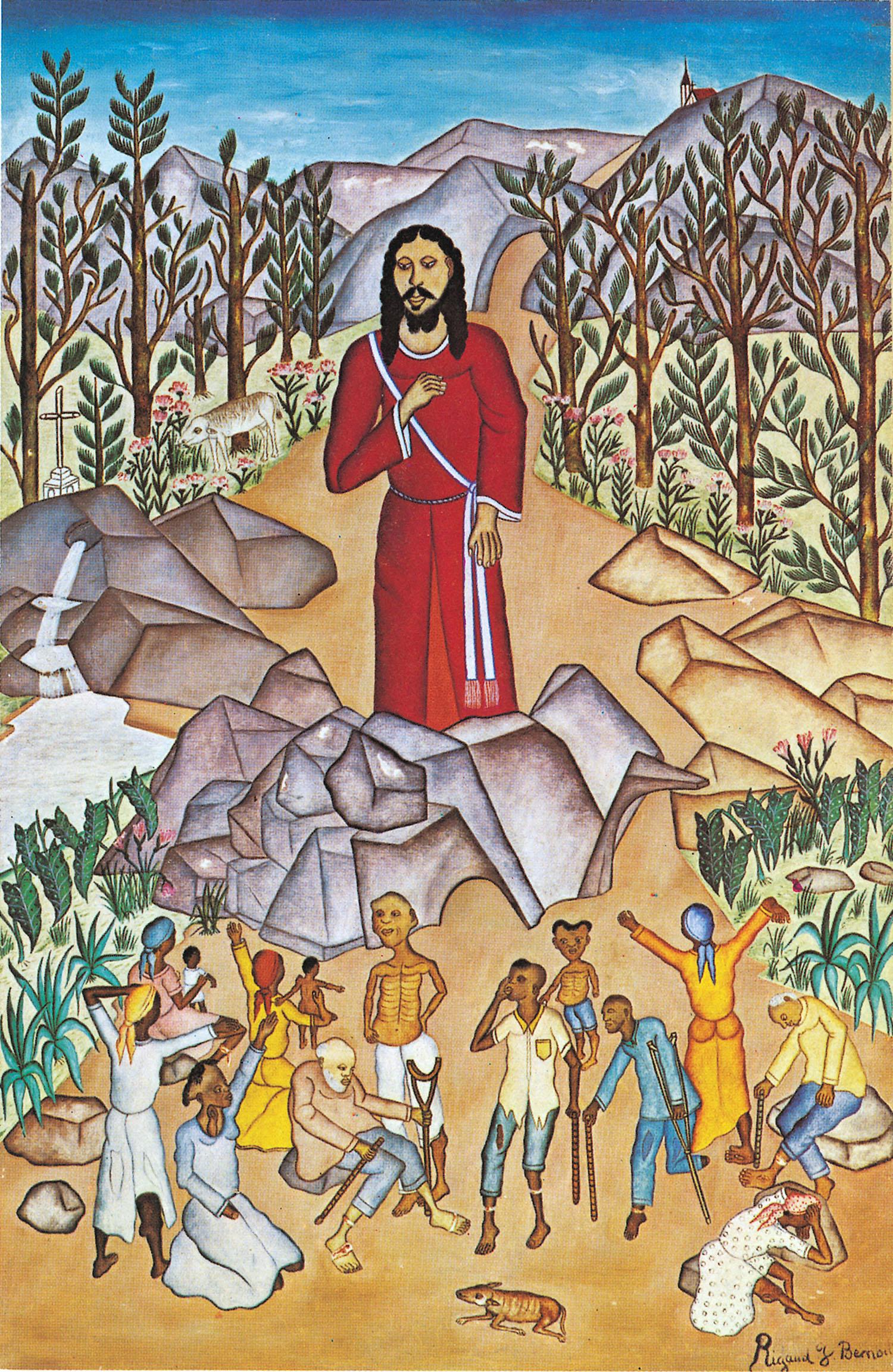 Peintre Contemporain Célèbre Vivant la peinture naïve haïtienne d'inspiration chrétienne