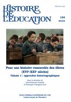 Couverture Histoire de l'éducation