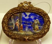 Annonciation peinte sur lapislazzuli, vers 1550-1600, Italie centrale