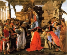Fig.12. Sandro Botticelli, Adoration des Mages, ca 1475, Florence, Gallerie des Offices.