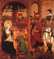 Fig.13. Urban Hutter, Adoration des Mages, ca 1490, Colmar, Musée d'Unterlinden