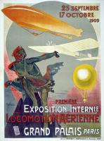 Affiche du premier Salon de la locomotion aérienne (1909)