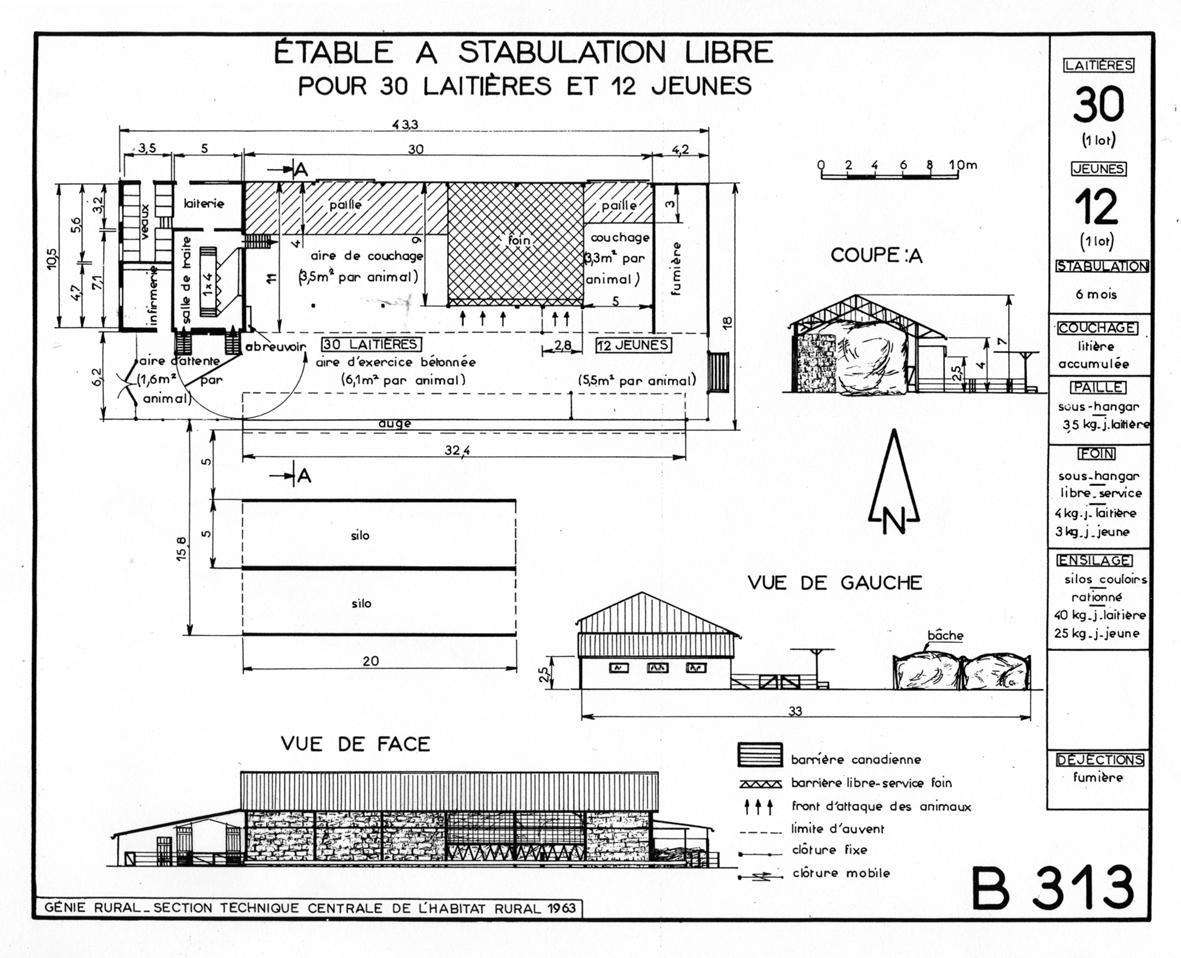 Le hangar de l abri polyvalent l difice sp cialis l for Plan hangar agricole