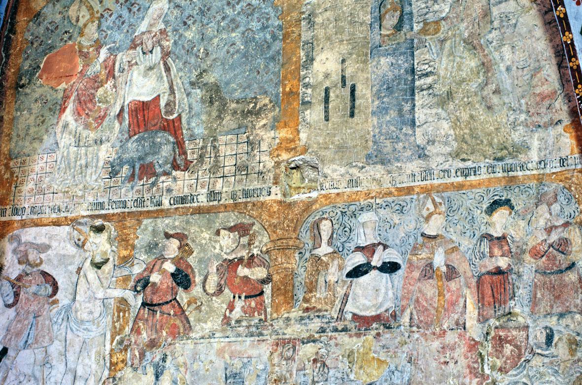 Découverte de peintures murales médiévales dans l'église de