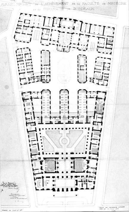 Carte Universite De Bordeaux.Pro Scientia Urbe Et Patria L Architecture De La Faculte De