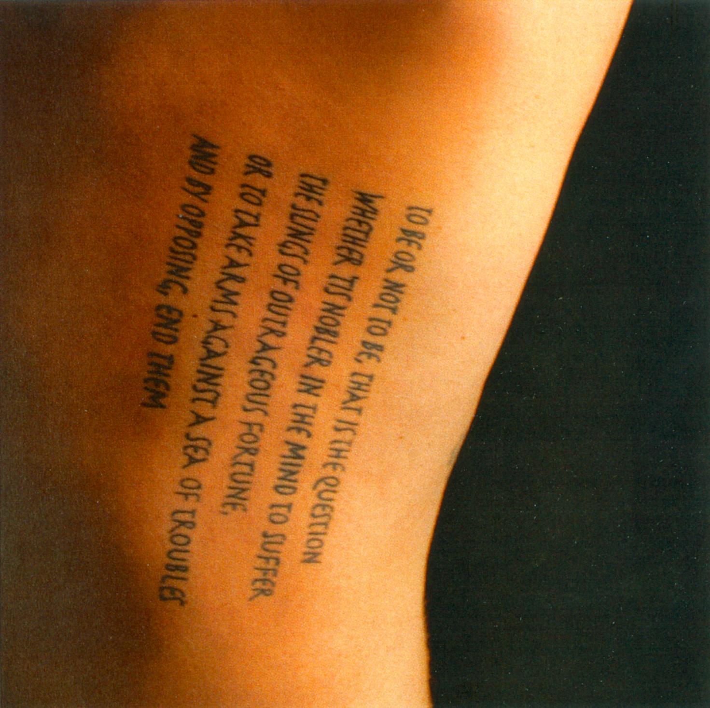 Une Enonciation Sans Communication Les Tatouages Scripturaux