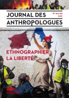 Ethnographier la liberté. Couverture. JDA 164-165. 2021