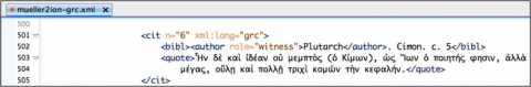 Figure 3: Image from the XML file for the Greek translation