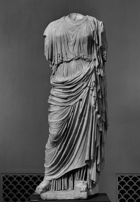 Fig. 3. Early imperial-period copy of Agorakritos' cult statue of Nemesis at Rhamnous